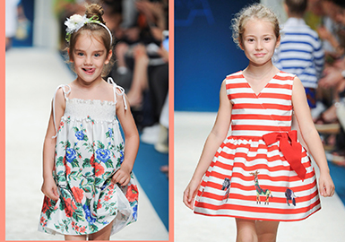 2017 S/S Key Item on Kids' Catwalk -- Dress