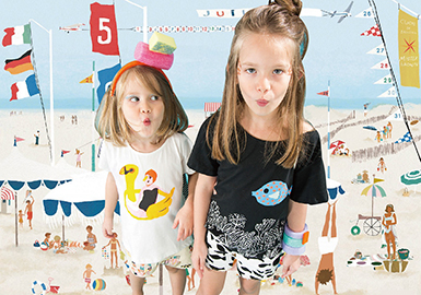 2018 S/S Pattern Trend for Girls Clothing -- Beach Holiday