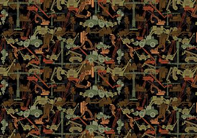 18/19 A/W Pattern for Menswear -- Hidden Camouflage
