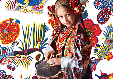 18/19 A/W Pattern Trend for Girls Clothing -- Whisper in Woodland