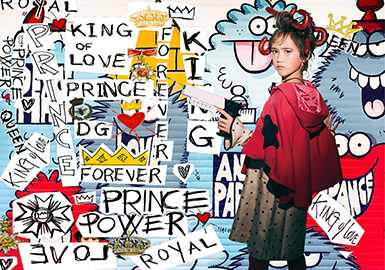 18/19 A/W Pattern & Craft for Girls' Wear -- Disorderly Interpretation: Quirky Factory