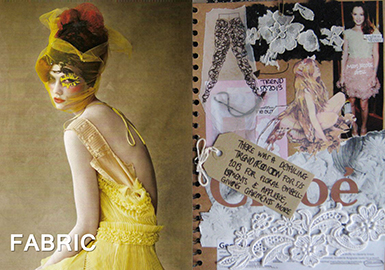 Fabric -- Vibrant Youth: Encounter with Lace (Lace Fabric)