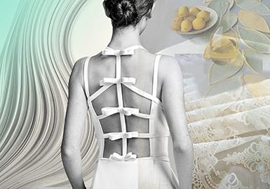 2019 S/S Women's Wedding Dress -- Back Design