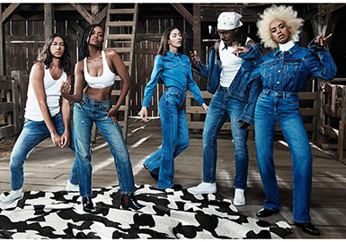 2019 S/S Silhouette for Women's Denim -- 80s Maximalism