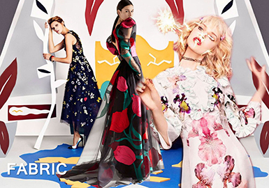 2019 S/S Printed Fabric &Embroidery Fabric Trend -- Flower Romance