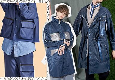 2017 A/W Cutting Detail for Menswear in Changshu Market -- Pocket