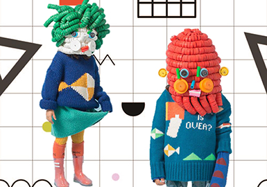 Pattern Trend for Kids' Sweaters 2019 S/S -- Geometry