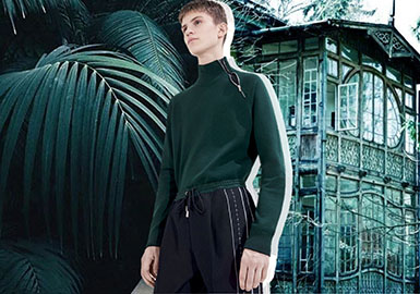 2019 S/S Color Trend Forecast of Men's knitwear -- Stylish Green