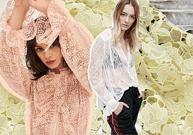 2018 S/S Fabric for Women's Top -- Lace & Detail
