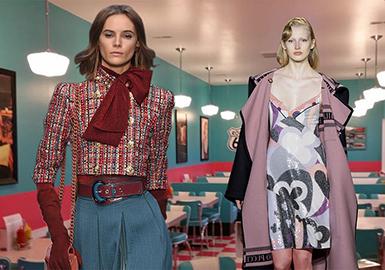 18/19 A/W Silhouette for Womenswear on Catwalks -- 50/60s Retro Style