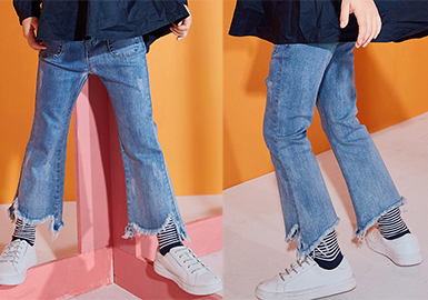 2019 S/S Girls' Jeans -- Silhouette