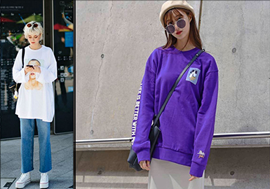 2018 S/S Knitted Fabric on Tokyo & Seoul Fashion Week Streets -- Chic Sweatshirt