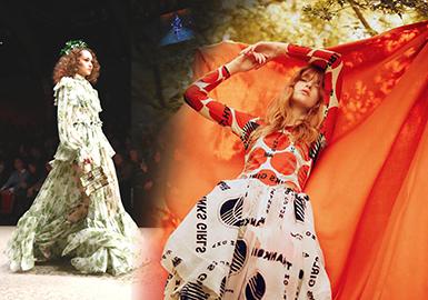 18/19 A/W Womenswear Printed Fabric -- Silk