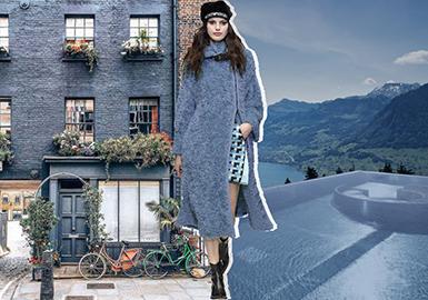 19/20 A/W Color Trend Forecast for Women's Fur -- Blue