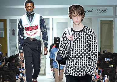 18/19 A/W Pattern for Men's Knitwear on Catwalk -- Youthful Style