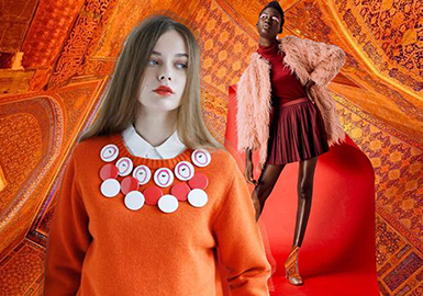 2019 S/S Color Trend of Women's Knitwear -- Orange Red