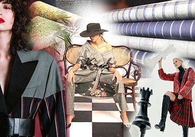 19/20 A/W Women's Suiting -- Vintage Stripe & Check