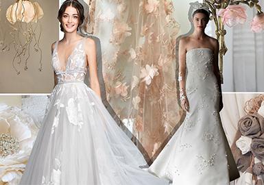 19/20 A/W Wedding Dress -- Decorative Flowers