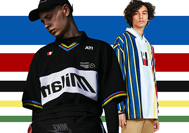 2019 S/S Silhouette Trend for Menswear -- Stylish Polo Shirt