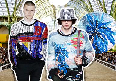 2019 S/S Men's Knitwear on Catwalks -- Paris