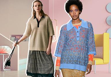 Versatile Polo Shirt -- 2020 S/S Women's Knitwear