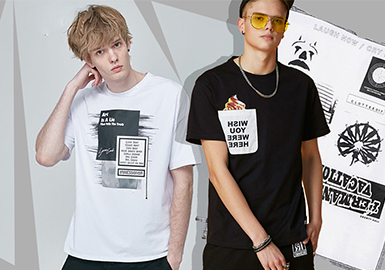 Stylish T-shirt -- 2020 S/S Silhouette Trend for Menswear
