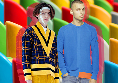 Primary Colors -- 2020 S/S Color Trend for Men's Knitwear