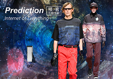 Prediction • Internet of Everything -- 19/20 A/W Pattern Trend for Menswear