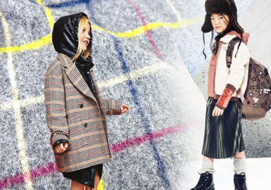 Winter Meadow -- 19/20 A/W Material Trend for Girls' Overcoat & Jacket