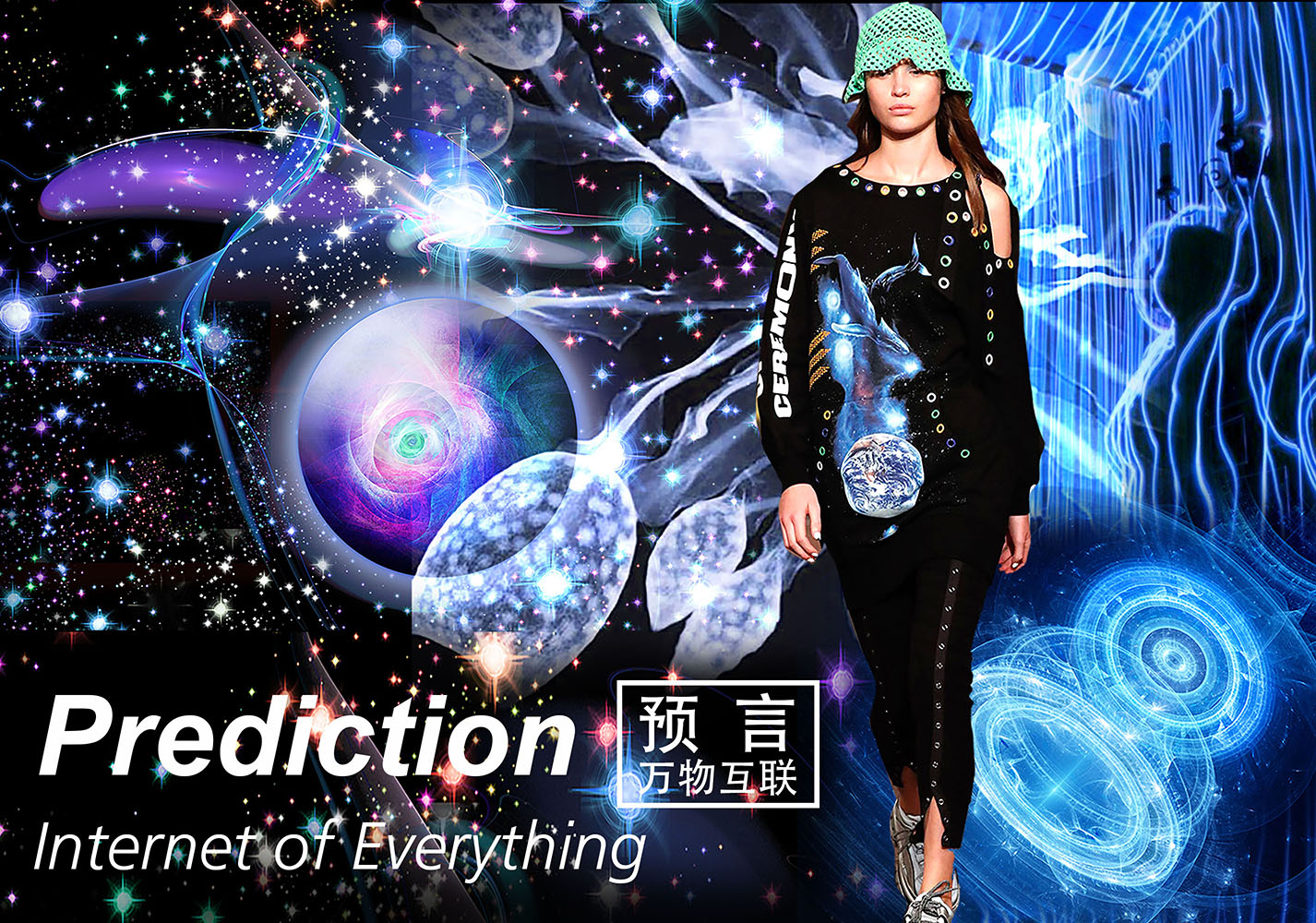 Prediction • Internet of Everything -- 19/20 A/W Pattern Trend for Womenswear