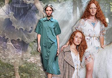 Subtlety -- 2020 S/S Silhouette Trend for Womenswear