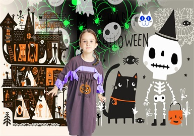 Halloween -- 19/20 A/W Pattern Trend for Kidswear