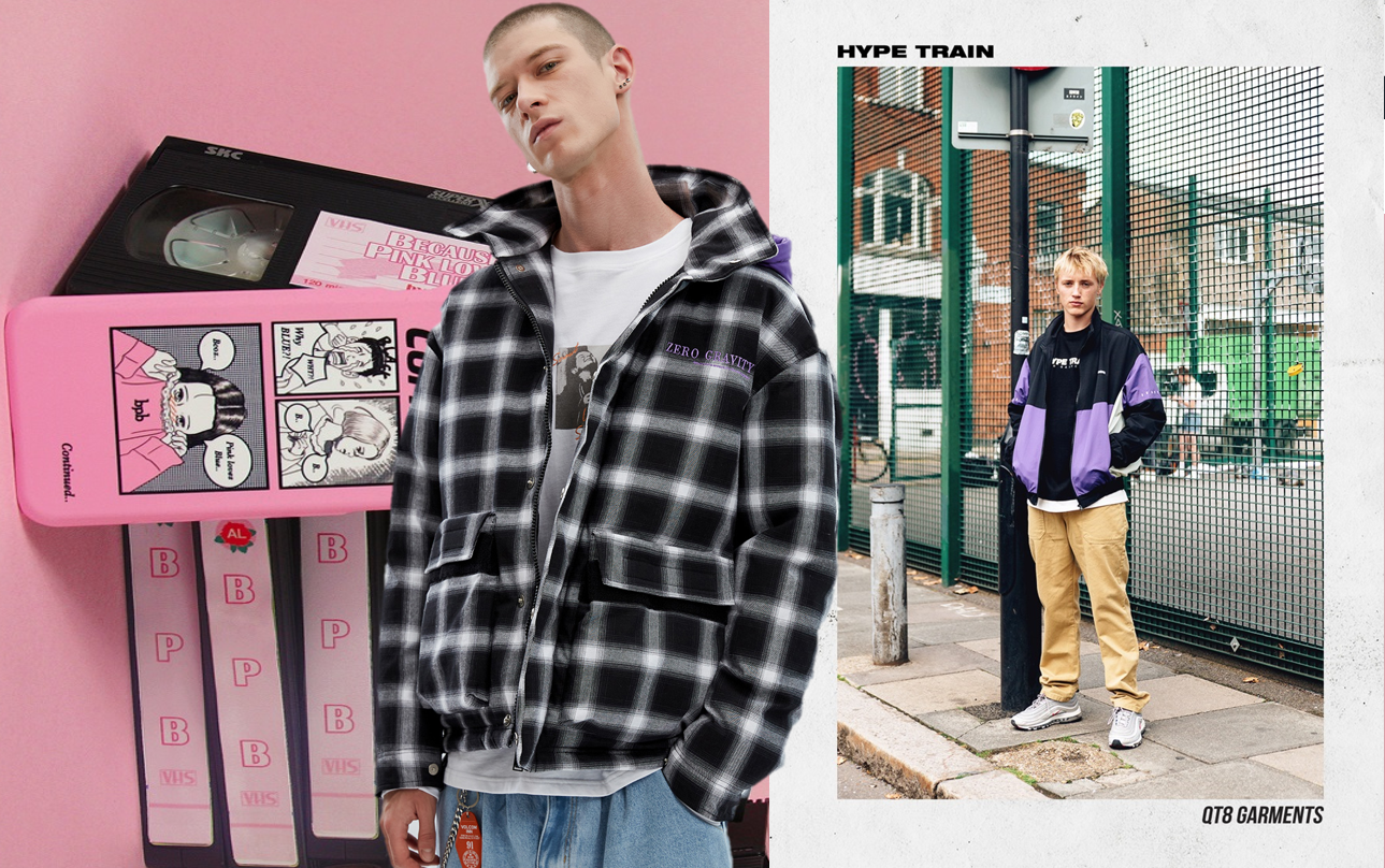 Rebellious Varsity Style -- 18/19 A/W Fabric Trend for Men's Jacket