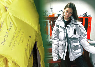 Protective Nylon -- 19/20 A/W Material Trend for Women's Puffa