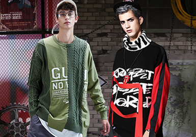 Chinese Fashion Sweatshirt -- Resort 2020 Silhouette Trend for Men's Knitwear
