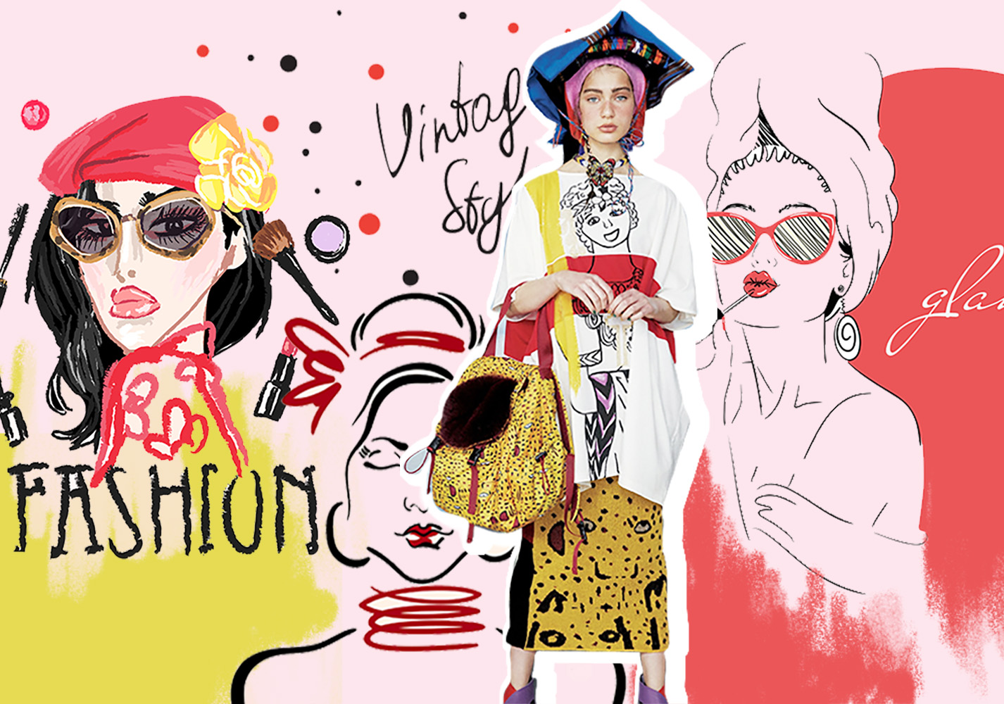 Portrait Illustration -- 2020 S/S Pattern Trend for Womenswear