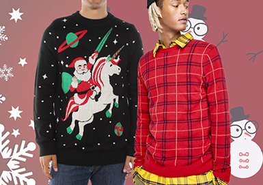 Christmas -- 19/20 A/W Pattern Trend for Men's Knitwear