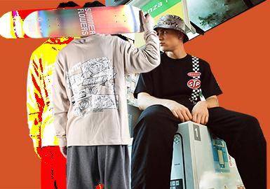 Distinctive T-shirt -- 2019 S/S Menswear Designer Brand