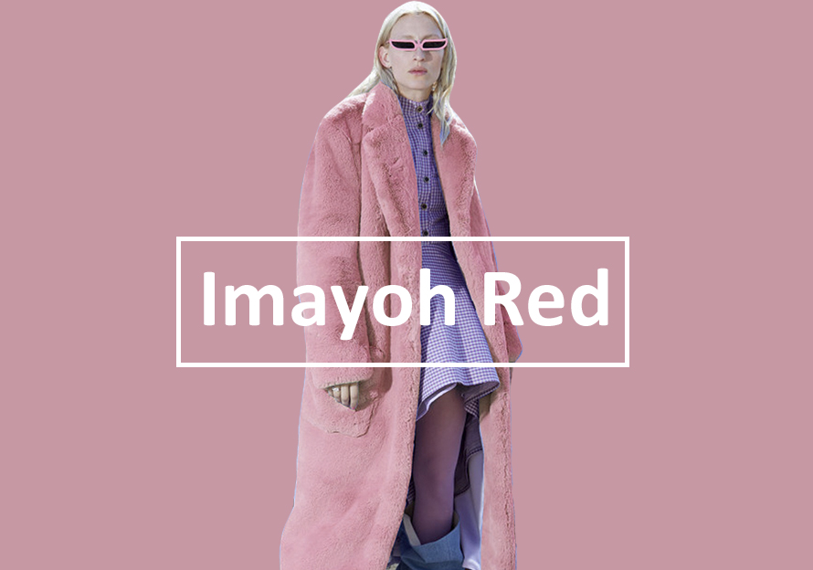 Imayoh Red -- 19/20 A/W Color Evolution of Women's Fur Apparel