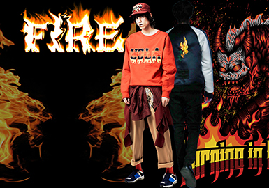 Flame -- 2020 S/S Pattern Trend for Menswear