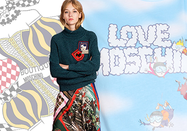 Moschino -- 19/20 A/W Women's Knitwear at Trunk Show