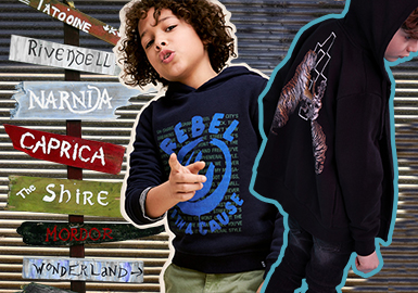 Sweatshirt -- 18/19 A/W Boys' Apparel in American & European Market