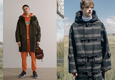Smart Causal Coat -- 19/20 A/W Silhouette Trend for Menswear