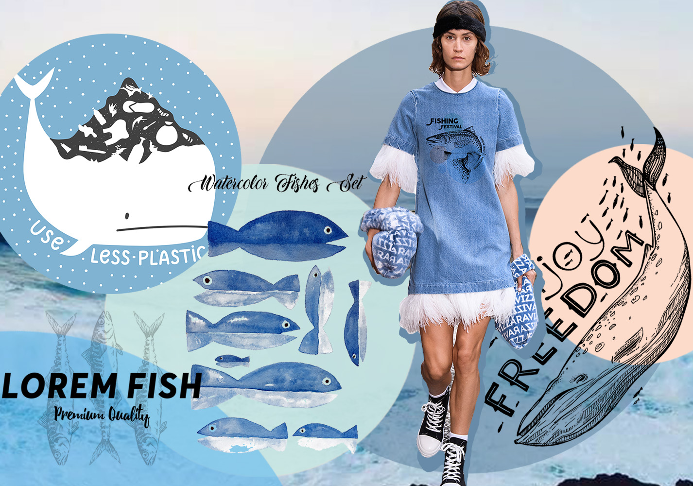 Blue Life -- 2020 S/S Pattern Trend for Womenswear