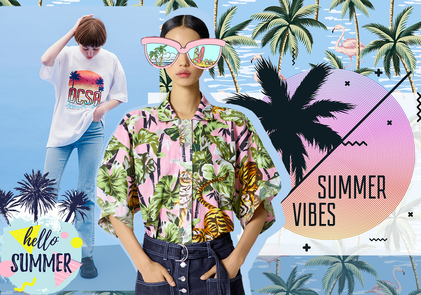 Tropical Plants -- 2020 S/S Pattern Trend for Womenswear