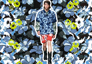 Romantic Florals -- 2020 S/S Pattern Trend for Menswear