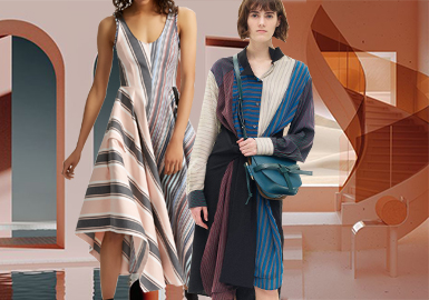 Diverse Stripes -- 2020 S/S Fabric Trend for Women's Dress