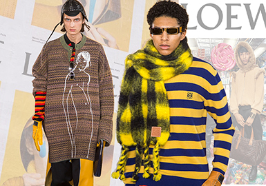 LOEWE -- 19/20 A/W Brand Analysis of Men's Knitwear on Catwalk