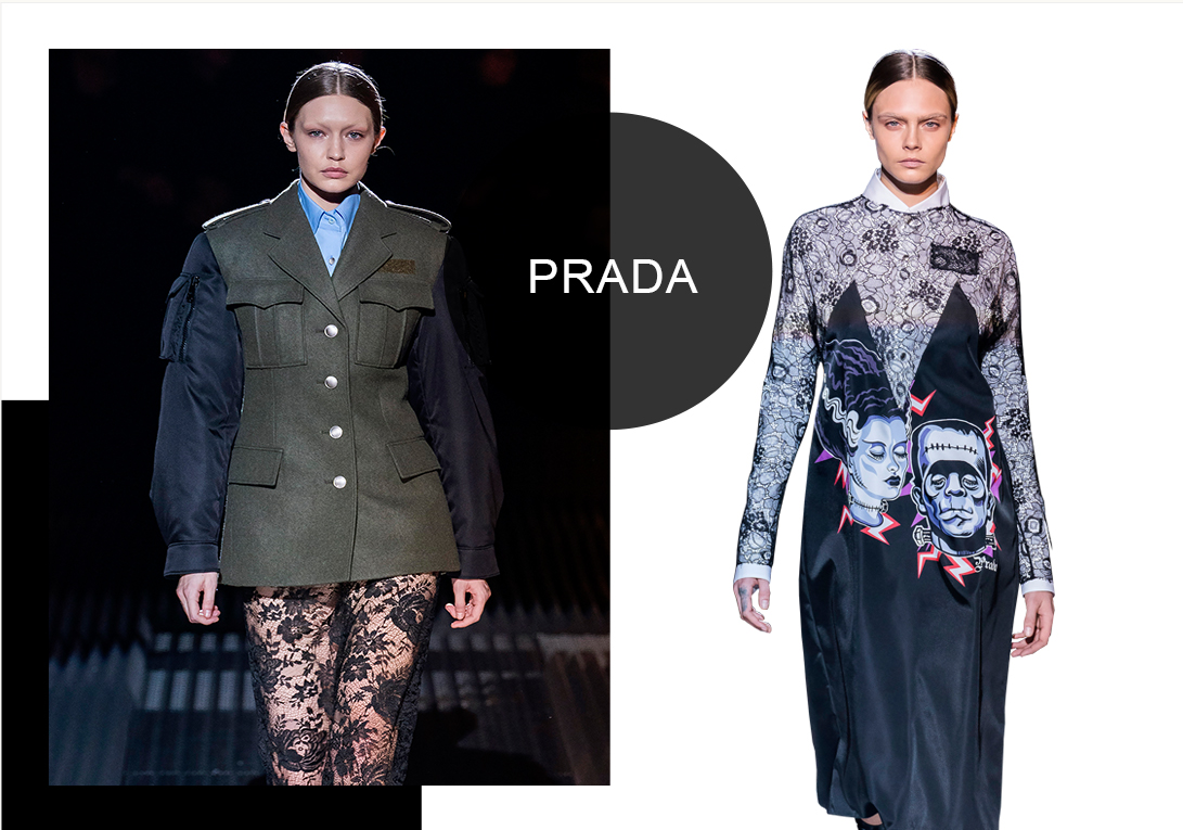 Prada -- Analysis of A/W 19/20 Womenswear Brands at Catwalks
