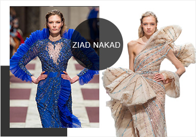 Ziad Nakad -- S/S 2019 Analysis of Formal Dress Catwalks in Paris Couture Week